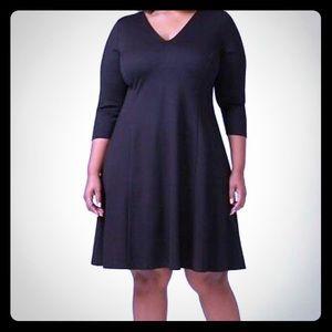 Lane Bryant 3/4 sleeve black dress